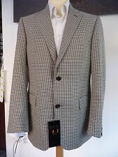DAKS Brand New Checked Black/Brown/White Check Jacket with tag 40R RRP £495