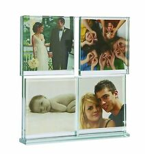 Invotis Multi Heavy Glass Picture Photo Frames Holds 4 Piece Home Set Collage 3D