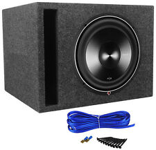 "Rockford Fosgate P3D2-12 12"" 1200 Watt Car Subwoofer + Vented Sub Box Enclosure"