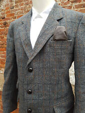 "Classic Mens Harris Tweed Country Jacket 44"" Chest *UK 42S* Stunning  (HT502)"