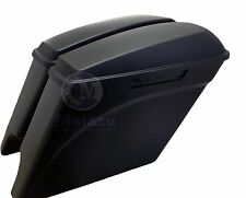 Mutazu Matte Black Stretched Extended Saddlebags for 2014 2015 Harley Touring