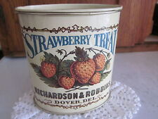 "VINTAGE ""BRISTOL WARE"" COVERED TIN ""STRAWBERRY TREAT""  - MADE IN USA ca 1960s-70"
