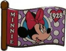 Disney Pin: WDW Mystery Box Set - Character Flags - Minnie Mouse Only LE 1000