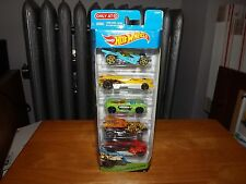 HOT WHEELS DOUBLE JUMP DUEL,  5 CAR PACK, TARGET EXCLUSIVE, NEW IN PACKAGE, 2013