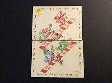 Vintage American Greetings Sticker - Care Bears - Skiing & Sledding - Dated 1985
