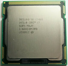 Intel Core i7 Quad Core i7-880 3.06ghz/8mb socket lga1156 Processor slbps