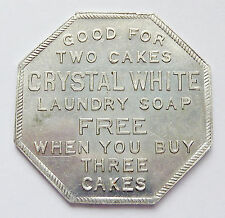 """GOOD FOR"" TOKEN ~ PALMOLIVE PEET - CHICAGO ~ CRYSTAL WHITE LAUNDRY SOAP"