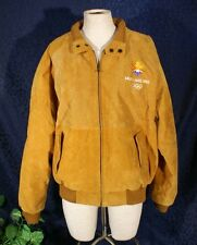 Nice Phase 2 Tan Suede 2002 Winter Olympic Jacket M