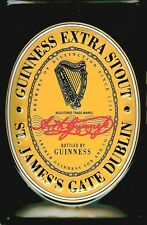 GUINNESS BLACK LABEL Vintage Metal Pub Sign | 3D Embossed Steel | Home Bar Irish
