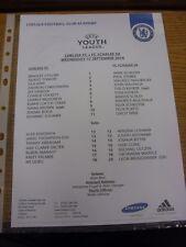 17/09/2014 Chelsea Youth U19 v Schalke Youth U19 [UEFA Youth League] (single she