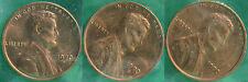 1970 P & D & S Lincoln Cent 3-Coin from US Mint Set UNC Cello One Cent 3-Coins