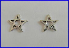 Pair Of Sterling Silver  925  Pentagram  Ear Studs  !!     Brand  New  !!