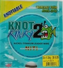 Knot2Kinky Nickel-Titanium Leader Wire, 7 Strand, 25lb(11.36kg) 30ft(9.2m)