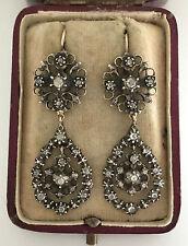 Una SPLENDIDA COPPIA DI georgiano 2ct ROSE Taglio Diamante Orecchini circa 1800's