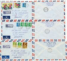 HONG KONG COMMERCIAL AIRMAIL FRANKINGS $15.60 + $12.40 REGIST.to FRANCE..3 ITEMS