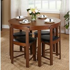 Small Dining Table Set Room Chairs 5 Piece Nook Kitchen Spaces Breakfast Dinette