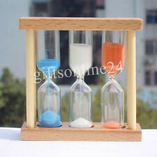 Wooden sand glass Hourglass Timer 1,3,5 Min for Tea/Coffee Child Birthday gift