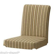 "IKEA HENRIKSDAL Slipcover Chair Cover 21"" Linghem Light Brown Striped 501.876.70"