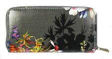Ladies Womens Purse Wallet Zip Black Floral Clutch Trendy V&A Accessory Gift NEW