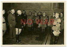WWII PHOTO GENERAL POLITICAL LEADERS GERMANY Dr. LEY & ITALY  MUSSOLINI MEETING