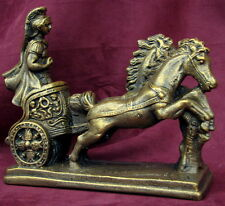 Roman Chariot Horses Statue Sparta Military Troy 17004