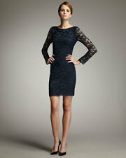 Diane Von Furstenberg New Zarita Lace Sheath Dress Navy Blue 2 XS