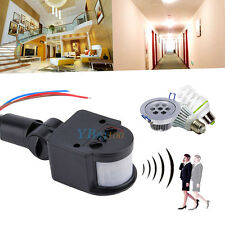 110V-220V LED PIR Infrared Motion Sensor Detector Wall Light Lamp Switch 180°
