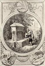 EAU FORTE / Fables de la Fontaine 1883 / LE VIEILLARD ET LES TROIS JEUNES HOMMES