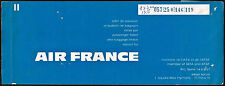 AIR FRANCE AIRLINES FRANCE AVIATION PASSENGER TICKET 1969 #7