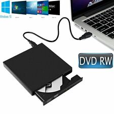 External USB 2.0 Slim DVD RW CD RW Drive DVD Writer Rewriter Burner Win10 8 7 XP
