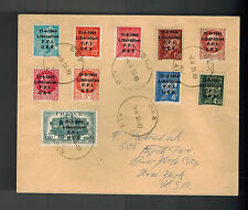1944 Gex France cover Overprinted Stamps FFI Liberation to USA