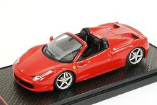 1:43 BBR Ferrari 458 Spider IAA Frankfurt 2011 Red Rosso Corsa UNIQUE ON EBAY