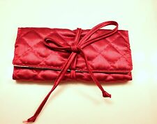 SILK QUILTED ROLL ON TRAVEL JEWELRY POUCH BAG # 402