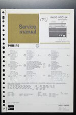 PHILIPS RADIO 50IC324 Original Service-Manual/Anleitung/Schaltplan! o35
