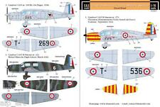 WWII Caudron Simoun C 635 in military service decals 1/72 SBS Model D72001