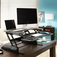 VARIDESK Pro Plus 36 Height Adjustable Standing Desk (Black) Ergonomic Easy Lift