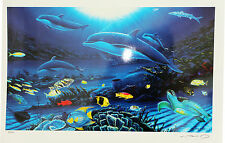"""WYLAND """"In The Company of Dolphins"""" Ocean Sea Life Hand Signed/# Seriolithograph"""