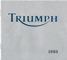 TRIUMPH Alemania GAMA FOLLETO de ventas 1993