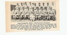 Prestonsburg Reds Kentucky 1946 Baseball Team Picture