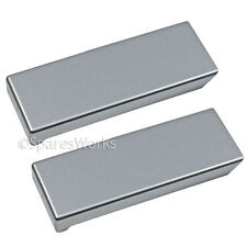 2 x Genuine LIEBHERR Fridge Freezer Refrigerator Door Handle Cover Plate Silver
