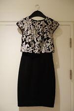 Ted Baker Ladies Maxina Jacquard Double Layer Dress Black London