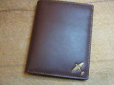 New! WWII RAF Spitfire logo dark leather wallet 4 flying flight jacket repro