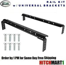 CURT BASE RAIL KIT w/ UNIVERSAL BRACKETS FOR 5TH WHEEL TRAILER HITCH  16100