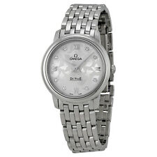 Omega De Ville Prestige Silver Diamond Ladies Watch OM42410276052001