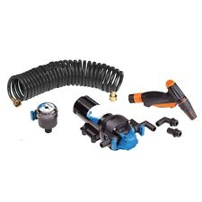 Jabsco Hotshot 12V Marine Boat Wash Down Pump Kit with 25' Hose 6 GPM 70psi