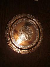 Antique Cairo-ware/Damascene Tray, copper/bronze w/ silver, Islamic, Qajar?