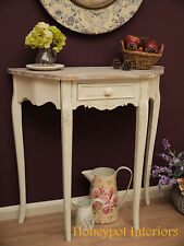 Shabby Chic French Vintage Style Hall Sideboard Side Table Semi Circle Half Moon