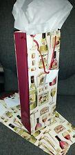 4 Printed Gift Bags Liquor Bottles Wine  NEW