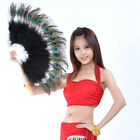 Hot! New Belly Dance Peacock Feather Fan 10 colours
