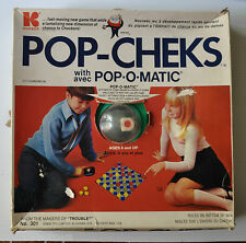 POP-CHEKS Pop-O-Matic KOHNER Board Game Checkers 1973